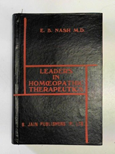 9780685765654: Leaders in Homeopathic Therapeutics
