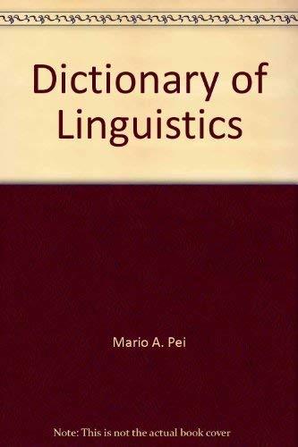 9780685775530: Dictionary of Linguistics