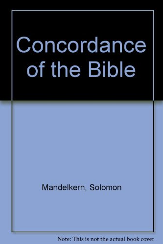 9780685814260: Concordance of the Bible
