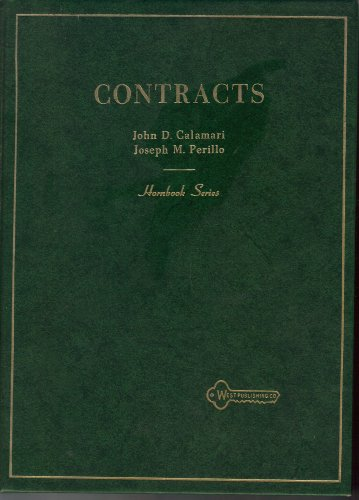 9780685881293: Law of Contracts (Hornbook Series)