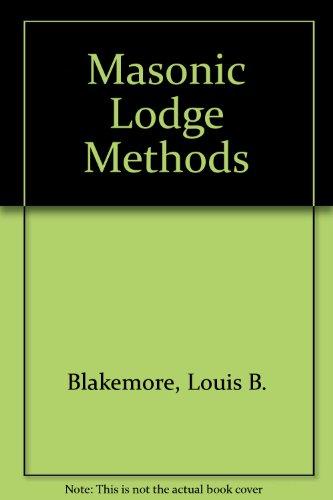 9780685887981: Masonic Lodge Methods
