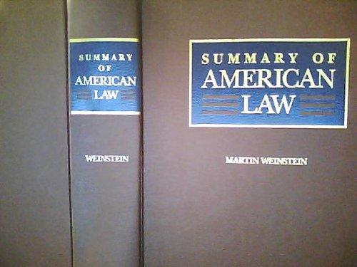 9780686145417: Summary of American Law