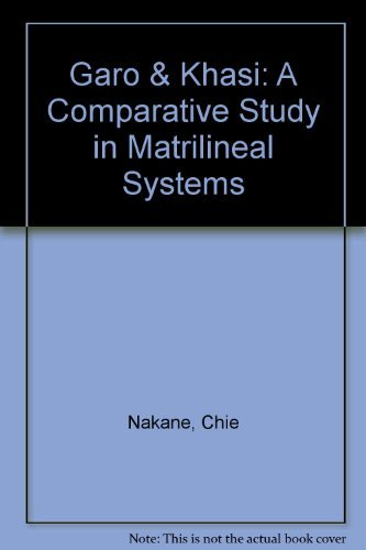 9780686224334: Garo & Khasi: A Comparative Study in Matrilineal Systems