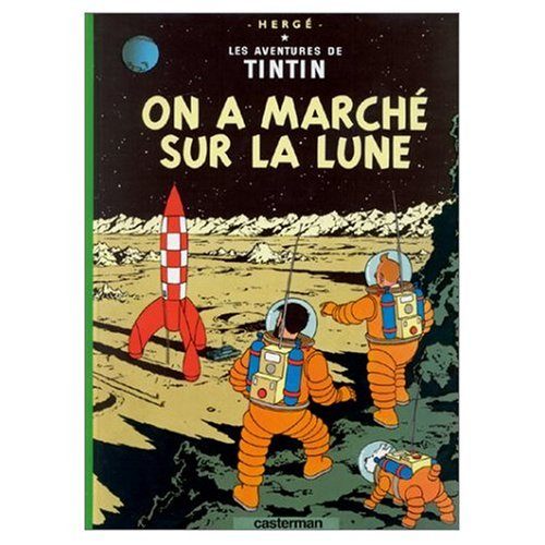 9780686545989: Les Aventures de Tintin / On A Marche sur la Lune (French edition of Explorers on the Moon) / Book and DVD Package