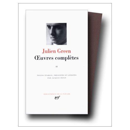 Oeuvres Completes: Epaves /  le Visionnaire /  Minuit /  Varouna /  Si j'estais vous /  etc. Vol. 2 (0686565193) by Julien Green; Green, J.