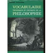 9780686572756: Vocabulaire Technique Et Critique De LA Philosophie