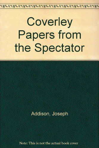 9780686719137: Coverley Papers from the Spectator