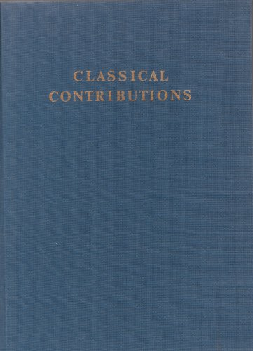 9780686737667: Classical Contributions: Studies in Honor of Malcolm Francis McGregor