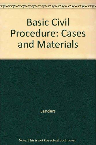 9780686776819: Basic Civil Procedure: Cases and Materials