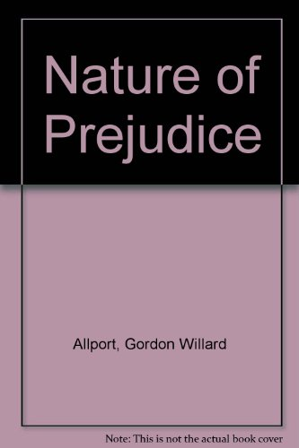 9780686950073: Nature of Prejudice