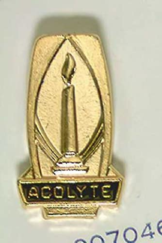9780687007042: Gold Acolyte Pin With Lighted Candle