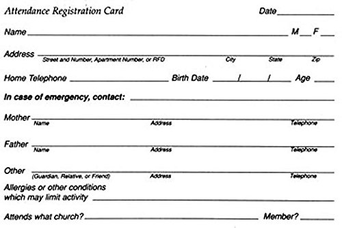 9780687022687: Registration Attendance Card (Package of 50)