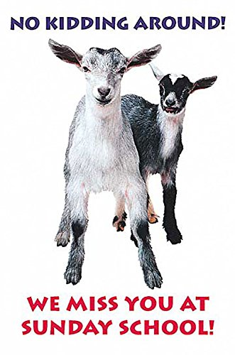9780687038978: Two Goats Miss you at Sunday School Postcard (Package of 25)