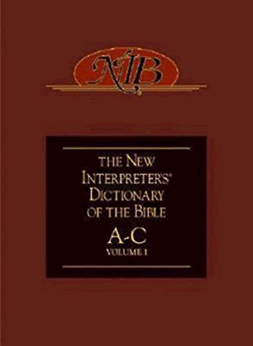 9780687054275: The New Interpreter's Dictionary of the Bible Volume One: A-C: v. 1, A-C