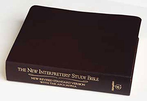 9780687073498: New Interpreters Study Bible: New Revised Standard Version With the Apocrapha, Burgundy Genuine Leather