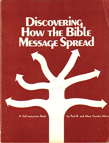 9780687109043: Discovering How the Bible Message Spread (A Self-Instruction Book)