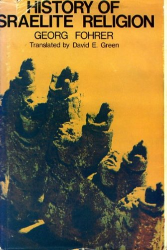 9780687172252: History of Israelite religion