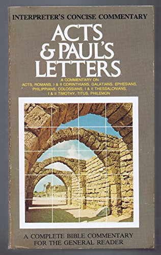 9780687192380: Interpreter's Concise Commentary: Acts & Paul's Letters