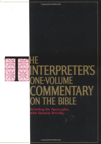 The Interpreter's One-Volume Commentary on the Bible (0687192994) by George A. Buttrick