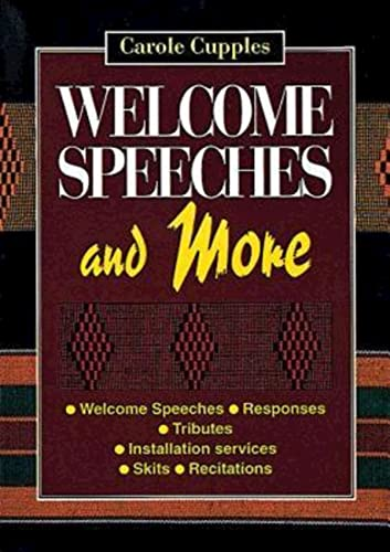 9780687271924: Welcome Speeches and More