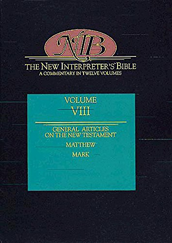 New Interpreter's Bible, Vol. VIII: General Articles: Keck, Leander E.,