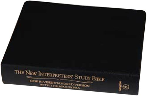 9780687278312: New Interpreters Study Bible: New Revised Standard Version With the Apocrypha, Black Genuine Leather