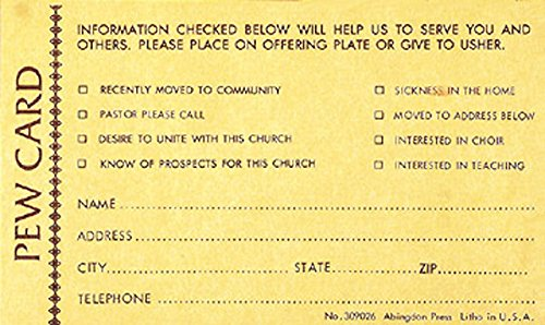 9780687309023: Pew Card - Request for Visitor (package of 25)