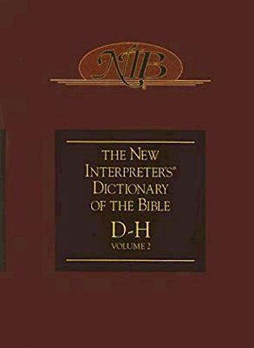 9780687333554: New Interpreter's Dictionary of the Bible D-H Volume 2