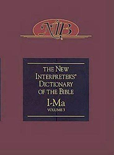 9780687333653: 3 I-MA: New Interpreter's Dictionary of the Bible Volume 3 - Nidb: I - Ma v. 3