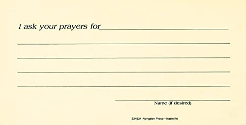 9780687334933: Prayer Request Card (Package of 25)