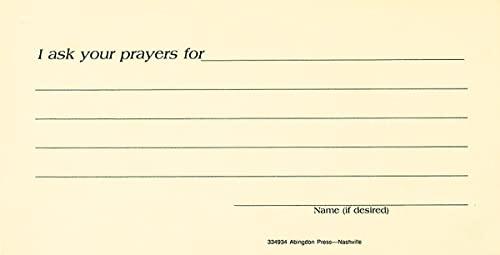 9780687334933: Prayer Request Card (Pkg of 25)