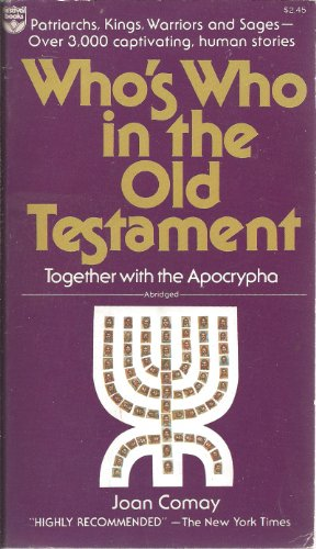 9780687453573: Title: Whos Who in the Old Testament Together With the Ap