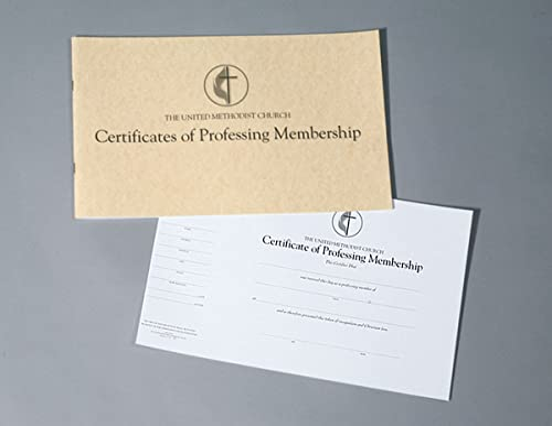9780687495818: The United Methodist Church Certificates of Professing Membership (Pad of 26)