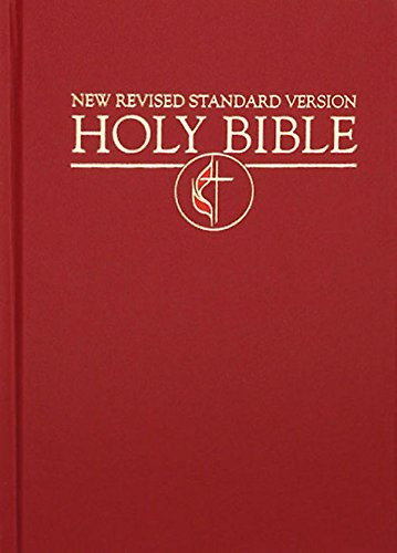 9780687643981: Cokesbury NRSV Pew United Methodist Edition Bible: Cross and Flame Emblem, Dark Red