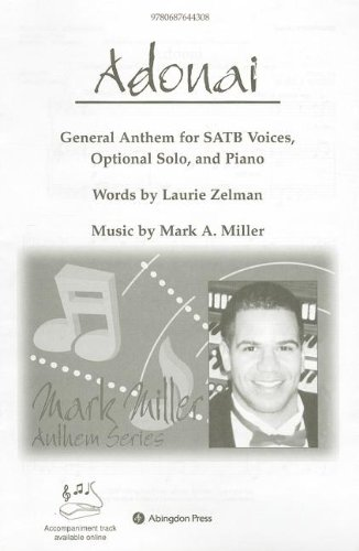 9780687644308: Adonai Anthem: General Anthem for SATB voices and Piano