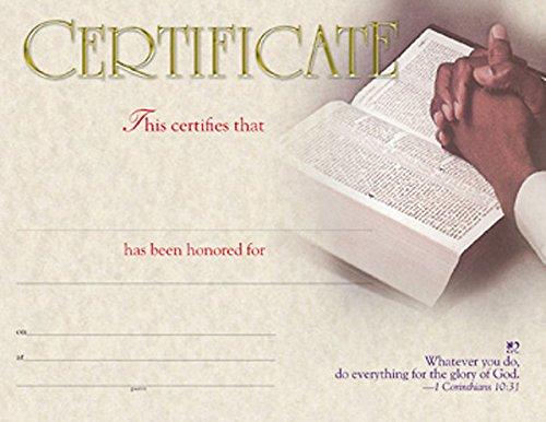 9780687652822: Certificate of Honor (Package of 6): African American Hands in Prayer