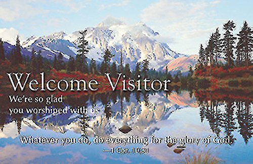 9780687655113: Welcome Visitor Postcard (Package of 25): Reflecting Lake
