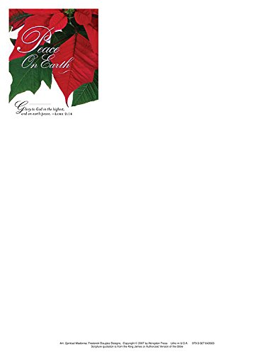 Christmas Poinsettia/Peace on Earth Letterhead 2011 (Package of 50): Abingdon Press