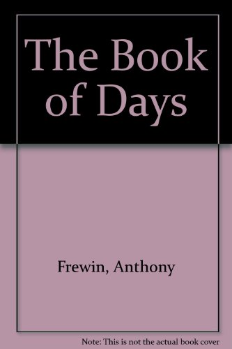 9780688005467: The Book of Days