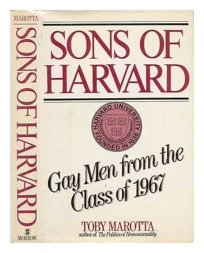 9780688010201: Sons of Harvard: Gay men from the class of 1967