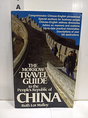 9780688011307: Morrow Travel Guide to the People's Republic of China