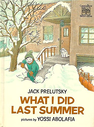 what i did last summer greenwillow read alone prelutsky jack