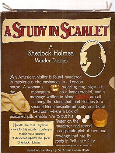 9780688019518: A Study in Scarlet: A Sherlock Holmes Murder Dossier