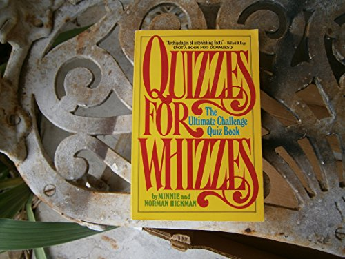 9780688021948: Quizzes for Whizzes: The Ultimate Challenge Quiz Book
