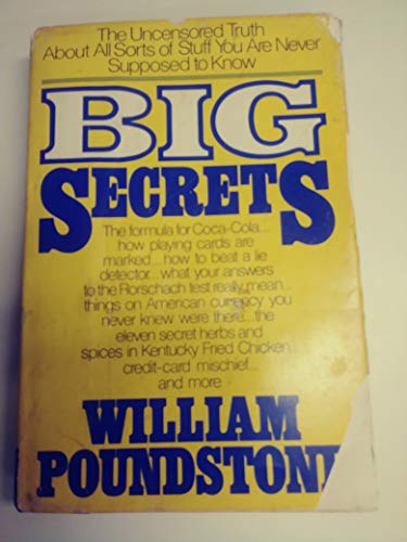 9780688022198: Big Secrets: The Uncensored Truth About All Sorts of Stuff You Are Never Supposed to Know