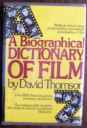 9780688029746: A biographical dictionary of film