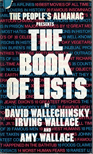 9780688031831: The People's Almanac Presents the Book of Lists