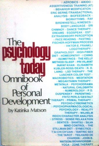 9780688032258: The Psycology Today Omnibook of Personal Development