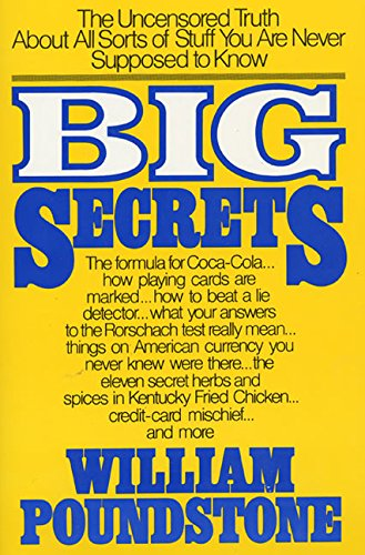 9780688048303: Big Secrets: The Uncensored Truth about All Sorts of Stuff ...