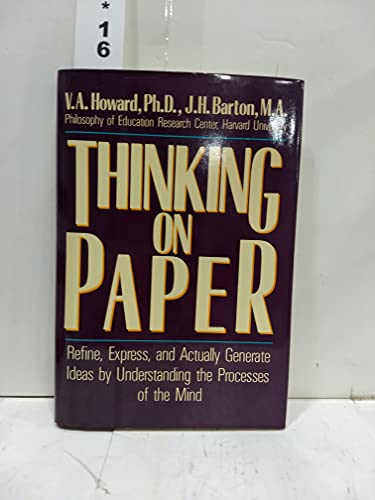 9780688048730: Thinking On Paper